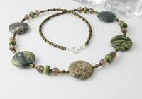 Forest Green Jasper Necklace