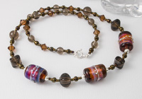"Lampwork Necklace ""Amber Shine"""