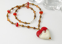 """Tandoori"" Heart Pendant Necklace"
