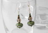 Smoky Quartz Lampwork Earrings