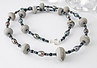 """""""Silver Lining"""" Lampwork Necklace"""