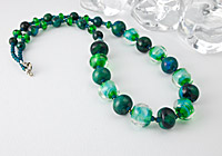 Lampwork and Chrysocolla Necklace