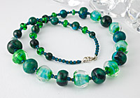 Lampwork and Chrysocolla Necklace alternative view 1