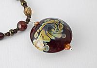 Earthy Lampwork Necklace