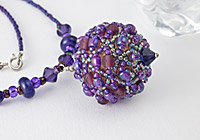 """Violet"" Beaded Necklace alternative view 1"