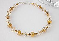 """Helios"" Lampwork Bracelet"