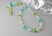 Crystal and Lampwork Necklace alternative view 1