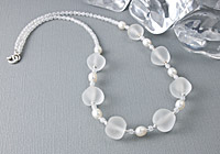 Stone Tumbled Lampwork Necklace