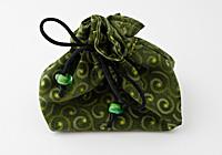 Green Swirl Jewellery Pouch
