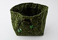 Green Swirl Jewellery Pouch alternative view 1