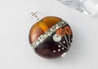 """""""Amber Flowers"""" Lampwork Pendant"""