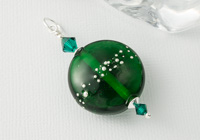 Green Glass Lampwork Pendant