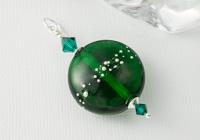 Green Glass Lampwork Pendant
