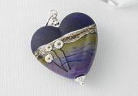 Purple Heart Lampwork Pendant