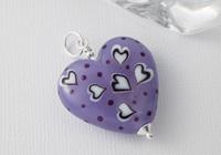 Lilac Heart Lampwork Pendant