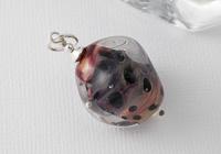 "Lampwork Pendant ""Purple Tiger Lily"""