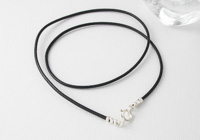 Black Greek Leather Cord Necklace