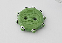 Green Lampwork Button