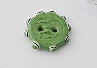 Green Lampwork Button