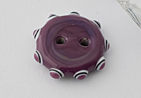 Purple Lampwork Button