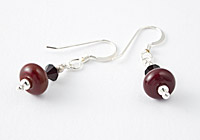 Red Lampwork Earrings alternative view 2