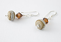 Brown Tumbled Lampwork Earrings
