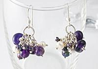 Silver Cluster Earrings