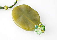 Nephrite and Lampwork Pendant Necklace alternative view 1