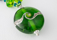 Spring Green Lampwork Necklace alternative view 1