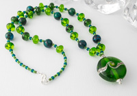 Spring Green Lampwork Necklace alternative view 2