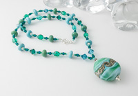 """Seafoam"" Lampwork Necklace"