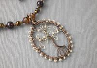 """Woodland"" Lampwork Necklace"