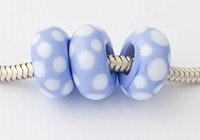 Periwinkle Lampwork Charm Bead