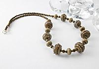 Organic Spiral Lampwork Necklace