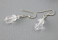 """Ice Quartz"" Lampwork Earrings"
