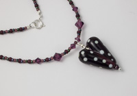 Dark Amethyst Heart Necklace alternative view 2