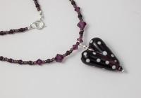 Dark Amethyst Heart Necklace alternative view 2