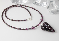 Dark Amethyst Heart Necklace alternative view 1