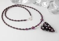 Dark Amethyst Heart Necklace alternative view 1