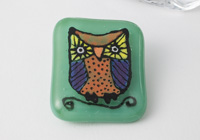 Fused Owl Brooch