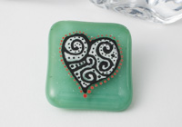 Fused Heart Brooch