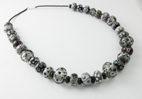 Black and Grey Lampwork Necklace