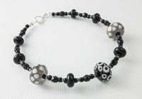 Black and Grey Lampwork Bracelet