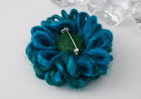 Turquoise Flower Brooch alternative view 1