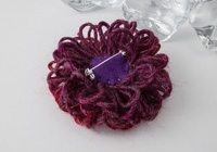 Dark Red Flower Brooch alternative view 1