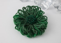 Emerald Green Flower Brooch