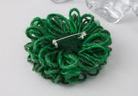 Emerald Green Flower Brooch alternative view 1