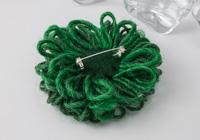 Emerald Green Flower Brooch alternative view 1