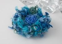 Blue Flower Brooch