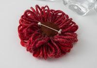 Red Flower Brooch alternative view 1